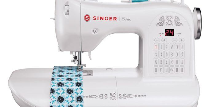 Singer One Vintage-style computerized sewing machine with extra-large sewing space
