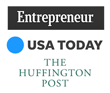 Featured on Entrepreneur, USA Today and Huffington Post