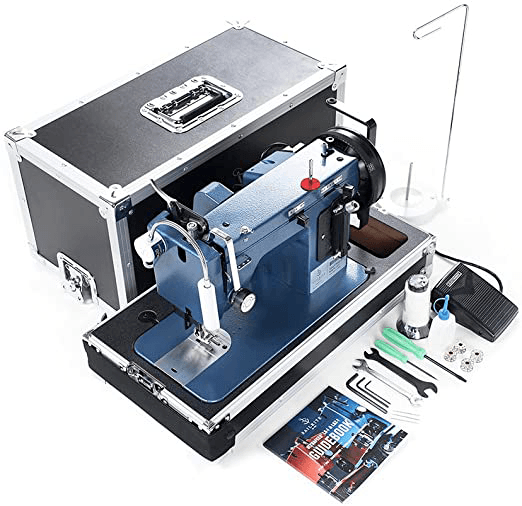 The Sailrite Ultrafeed, a heavy duty leather sewing machine